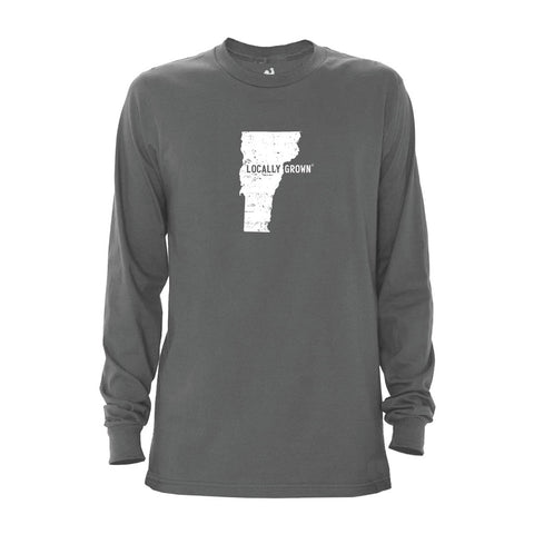 Locally Grown Clothing Co. Men's Vermont Solid State Long Sleeve