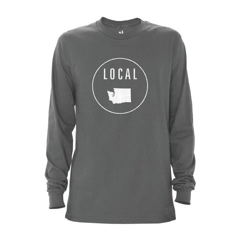Locally Grown Clothing Co. Men's Washington Local Long Sleeve Crew