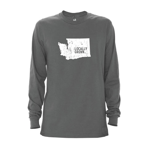Locally Grown Clothing Co. Men's Washington Solid State Long Sleeve Crew
