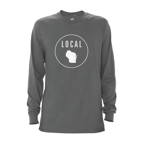 Locally Grown Clothing Co. Men's Wisconsin Local Long Sleeve Crew