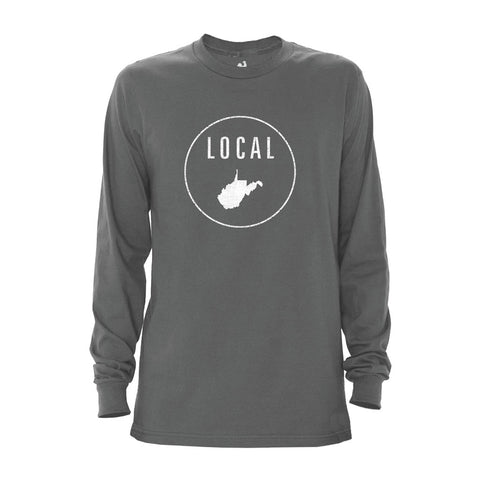 Locally Grown Clothing Co. Men's West Virginia Local Long Sleeve Crew
