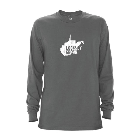 Locally Grown Clothing Co. Men's West Virginia Solid State Long Sleeve