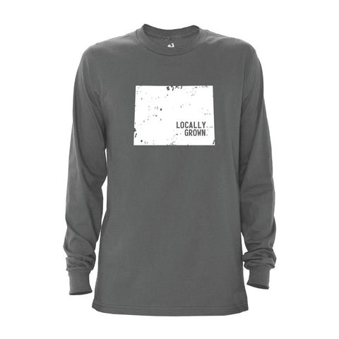 Locally Grown Clothing Co. Men's Wyoming Solid State Long Sleeve