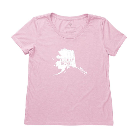 Locally Grown Clothing Co. Women's Alaska Solid State Tee