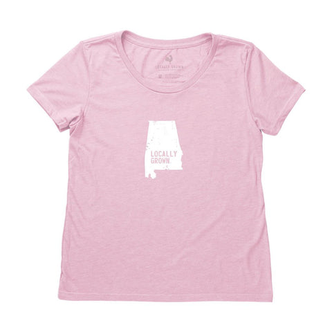 Locally Grown Clothing Co. Women's Alabama Solid State Tee