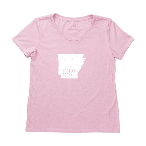 Locally Grown Clothing Co. Women's Arkansas Solid State Tee