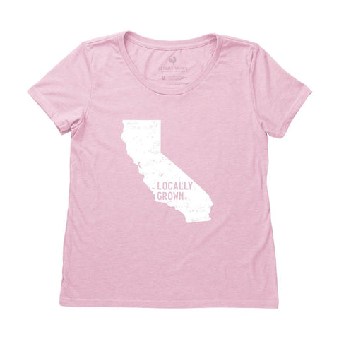 Locally Grown Clothing Co. Women's California Solid State Tee