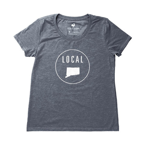 Locally Grown Clothing Co. Women's Connecticut Local Tee