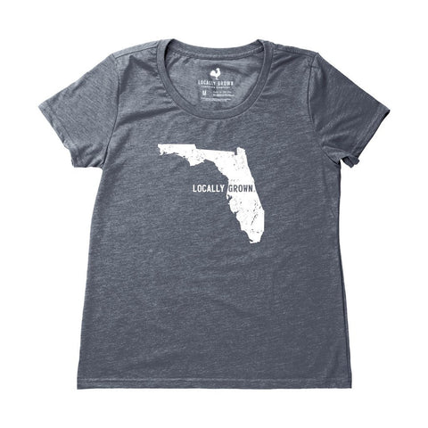 Locally Grown Clothing Co. Women's Florida Solid State Tee