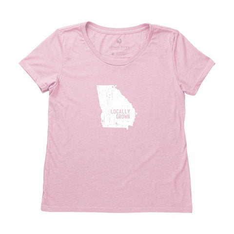 Locally Grown Clothing Co. Women's Georgia Solid State Tee