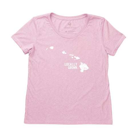 Locally Grown Clothing Co. Women's Hawaii Solid State Tee
