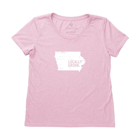 Locally Grown Clothing Co. Women's Iowa Solid State Tee