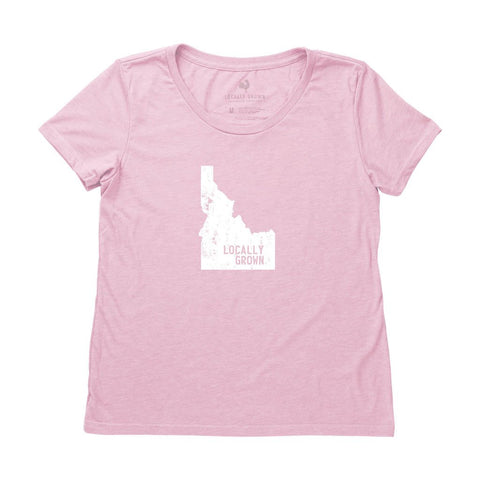 Locally Grown Clothing Co. Women's Idaho Solid State Tee