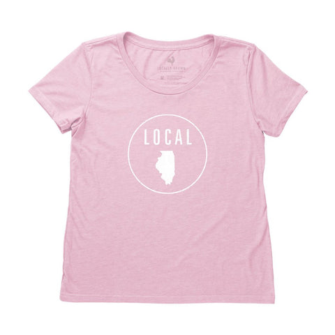 Locally Grown Clothing Co. Women's Illinois Local Tee
