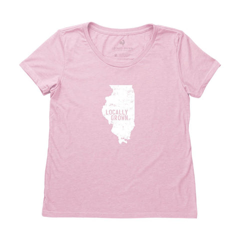 Locally Grown Clothing Co. Women's Illinois Solid State Tee