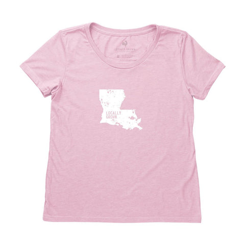 Locally Grown Clothing Co. Women's Louisiana Solid State Tee