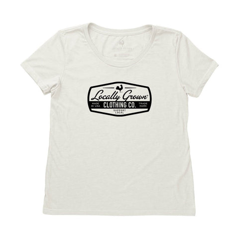 Locally Grown Clothing Co. Women's LG Badge Tee