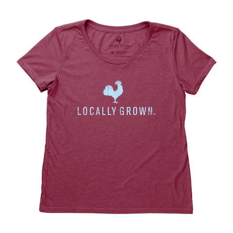 Locally Grown Clothing Co. Women's Rooster Logo Tee