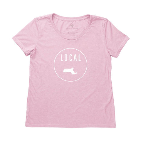 Locally Grown Clothing Co. Women's Massachusetts Local Tee