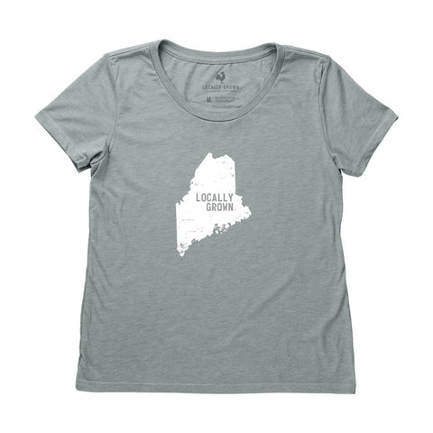 Locally Grown Clothing Co. Women's Maine Solid State Tee