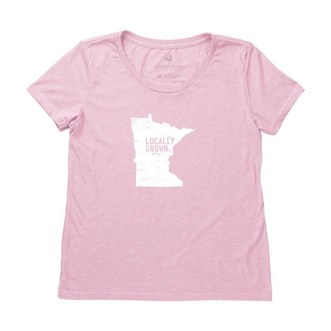 Locally Grown Clothing Co. Women's Minnesota Solid State Tee