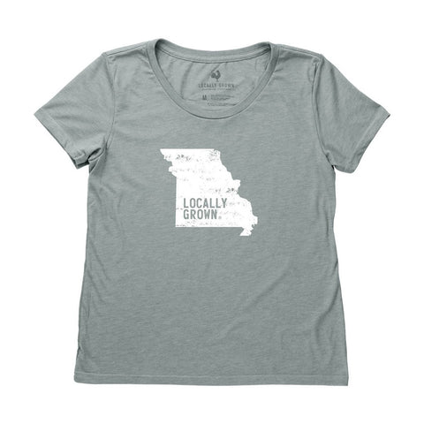 Locally Grown Clothing Co. Women's Missouri Solid State Tee