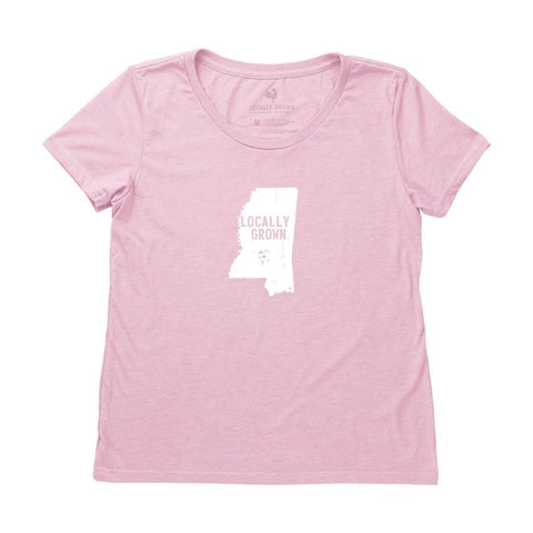 Locally Grown Clothing Co. Women's Mississippi Solid State Tee