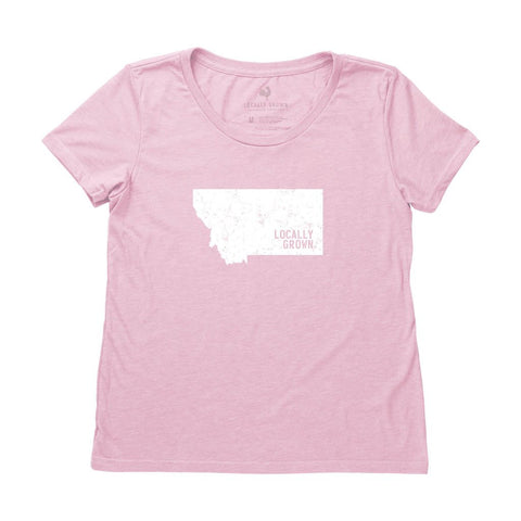Locally Grown Clothing Co. Women's Montana Solid State Tee