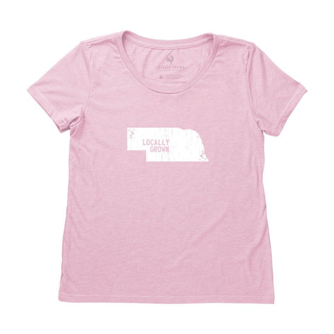 Locally Grown Clothing Co. Women's Nebraska Solid State Tee