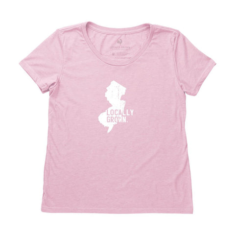 Locally Grown Clothing Co. Women's New Jersey Solid State Tee