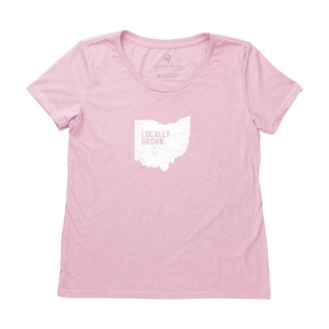 Locally Grown Clothing Co. Women's Ohio Solid State Tee
