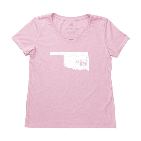 Locally Grown Clothing Co. Women's Oklahoma Solid State Tee