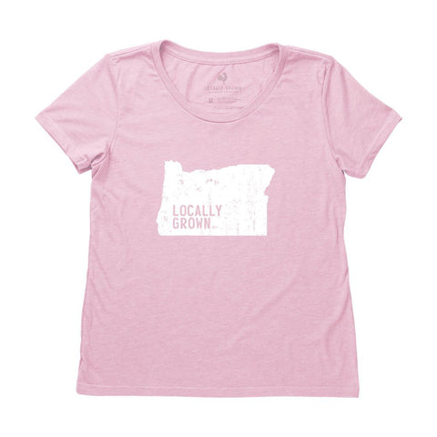 Locally Grown Clothing Co. Women's Oregon Solid State Tee