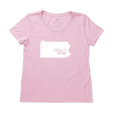 Locally Grown Clothing Co. Women's Pennsylvania Solid State Tee