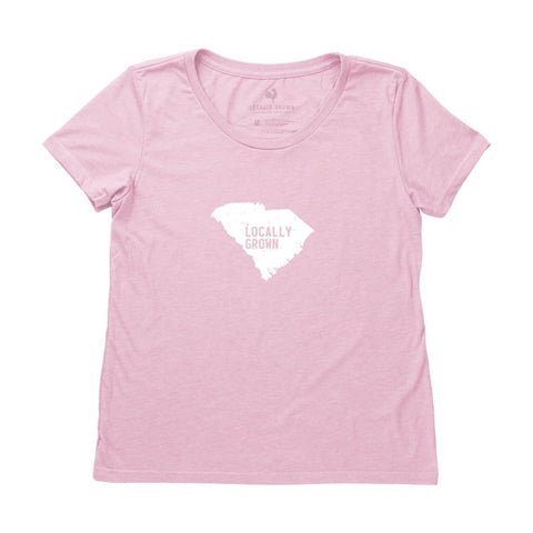 Locally Grown Clothing Co. Women's South Carolina Solid State Tee