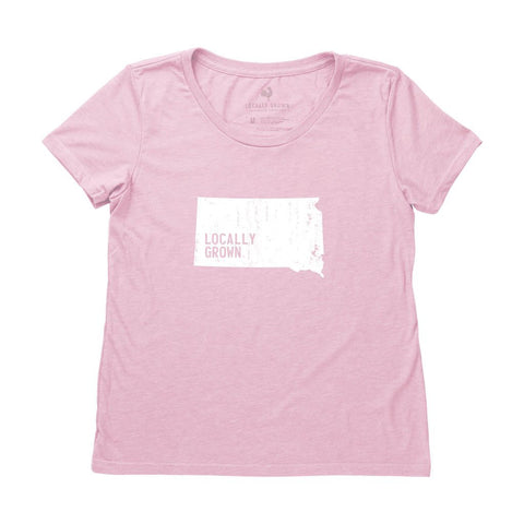 Locally Grown Clothing Co. Women's South Dakota Solid State Tee