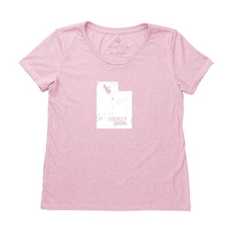 Locally Grown Clothing Co. Women's Utah Solid State Tee