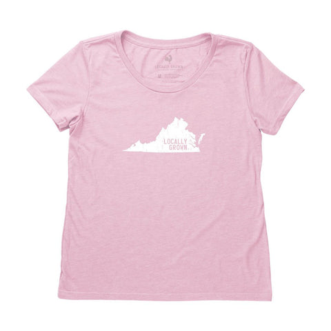 Locally Grown Clothing Co. Women's Virginia Solid State Tee