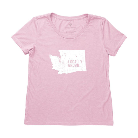Locally Grown Clothing Co. Women's Washington Solid State Tee