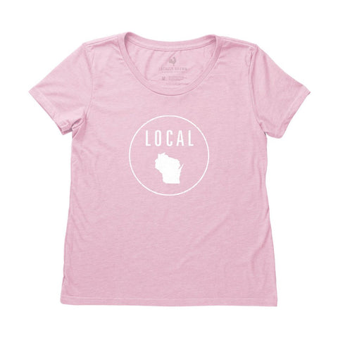 Locally Grown Clothing Co. Women's Wisconsin Local Tee