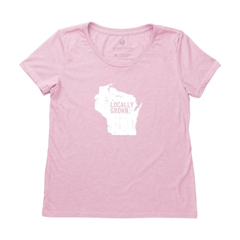Locally Grown Clothing Co. Women's Wisconsin Solid State Tee
