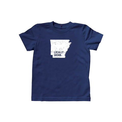 Locally Grown Clothing Co. Kids Arkansas Solid State Tee