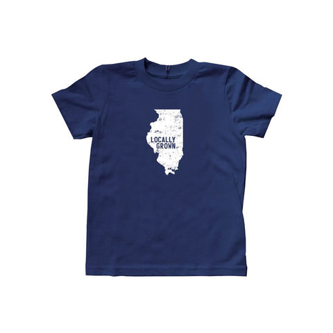 Locally Grown Clothing Co. Kids Illinois Solid State Tee