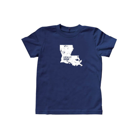 Locally Grown Clothing Co. Kids Louisiana Solid State Tee