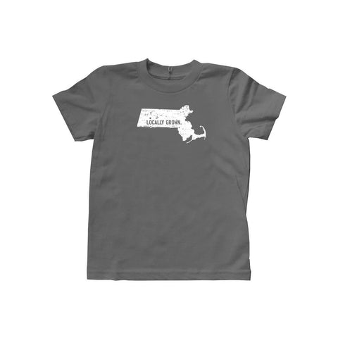 Locally Grown Clothing Co. Kids Massachusetts Solid State Tee