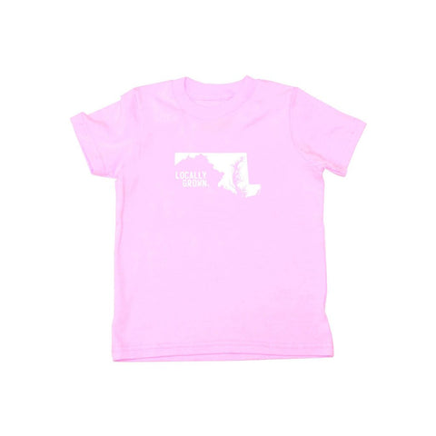 Locally Grown Clothing Co. Kids Maryland Solid State Tee