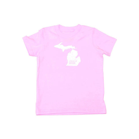 Locally Grown Clothing Co. Kids Michigan Solid State Tee