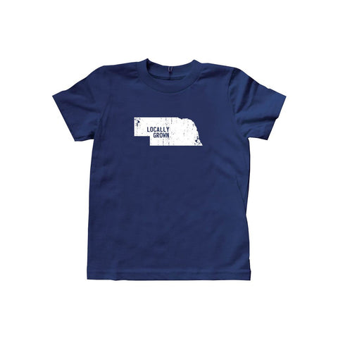 Locally Grown Clothing Co. Kids Nebraska Solid State Tee