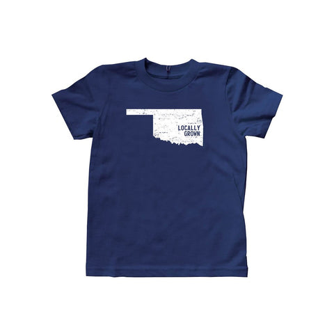 Locally Grown Clothing Co. Kids Oklahoma Solid State Tee