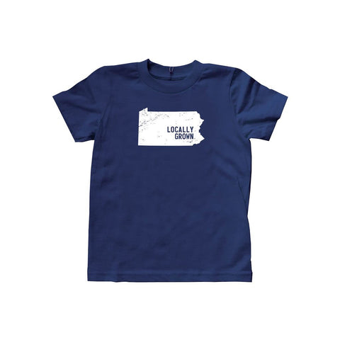 Locally Grown Clothing Co. Kids Pennsylvania Solid State Tee